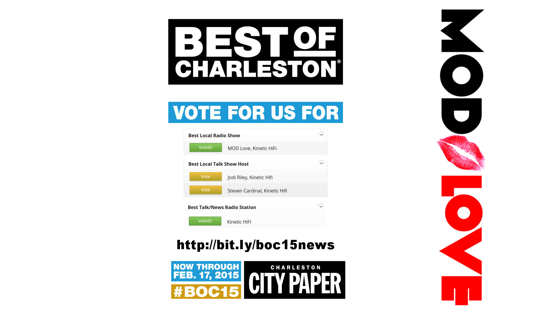 Best of Charleston finalists