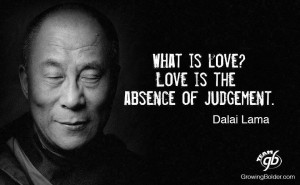Dalai Lama quote about judgment